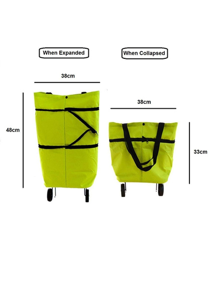 Polyester Trolley Luggage Bags Traveling Vegetable Grocery Clothing Bag with Light Weight and Medium Size with Wheels for Girls Boys Women Ladies Men-3
