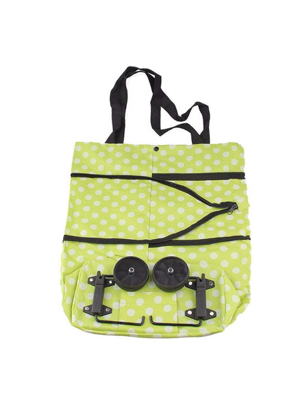 Polyester Trolley Luggage Bags Traveling Vegetable Grocery Clothing Bag with Light Weight and Medium Size with Wheels for Girls Boys Women Ladies Men-4