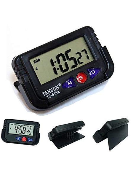 Car Dashboard/Office Desk Alarm Clock and Stopwatch with Flexible Stand-G10