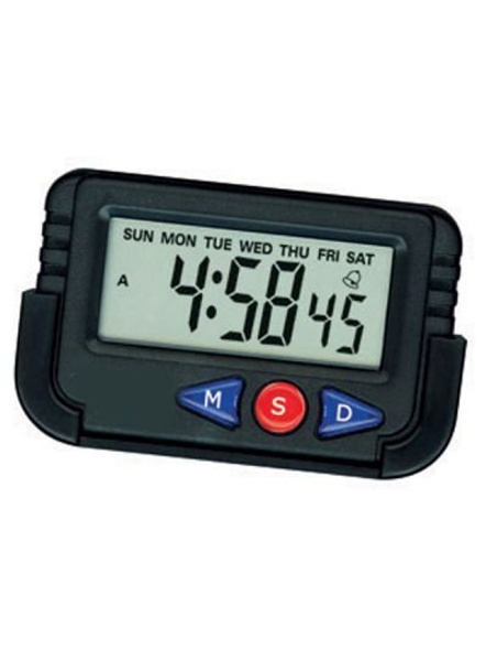 Car Dashboard/Office Desk Alarm Clock and Stopwatch with Flexible Stand-2