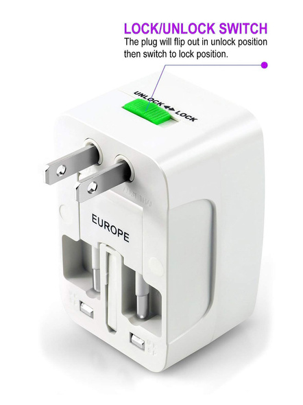 All in One Universal Power Adapter. Worldwide Travel Adaptor. Surge Protector.-1