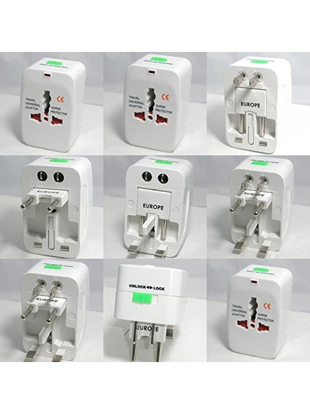 All in One Universal Power Adapter. Worldwide Travel Adaptor. Surge Protector.-5