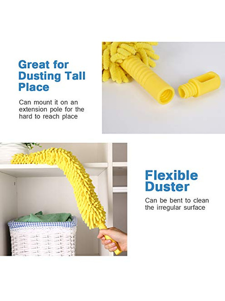 Cleaning Brush Feather Microfiber Duster Magic Dust Cleaner Fit Home Office Cleaning Tools (Multicolour)-3