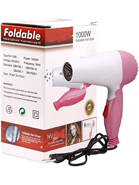 Professional Foldable Hair Dryer 1000W For Women (Multicolor)-G2