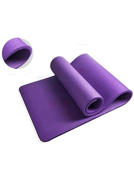 4mm High Density Yoga Mat for Yoga Exercise and Gym Workout for Men & Women Fitness [Multicolor]-1
