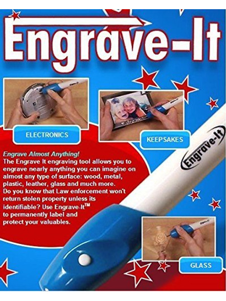 Handheld Battery Operated Engraving Pen Tool. Engraves on almost any surface-G100