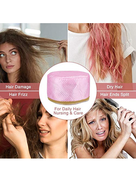 Hair Care SPA Cap Beauty Steamer Hair Thermal Treatment Nourishing Hat-4