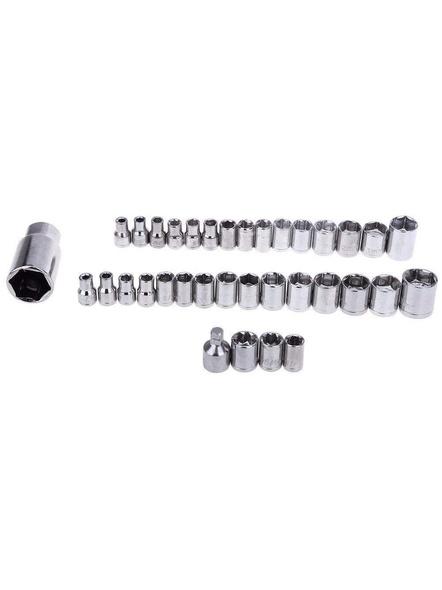 40 Pcs (Including Box) Combination Socket Wrench Tool Set 40 Pcs Screwdriver Set-3