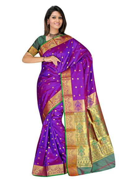 Banarasi Silk Woven Saree in Purple-926