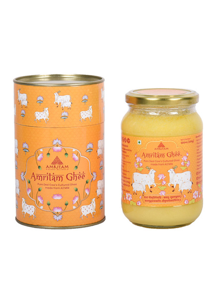Amritam Ghee 500 ml-AM-500-1-Orange