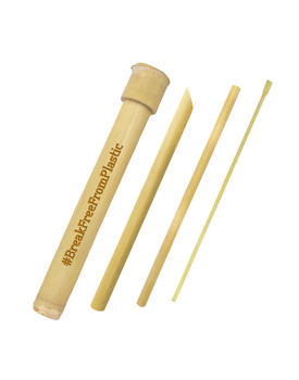 Bamboo Straw Complete Set + Bamboo Case