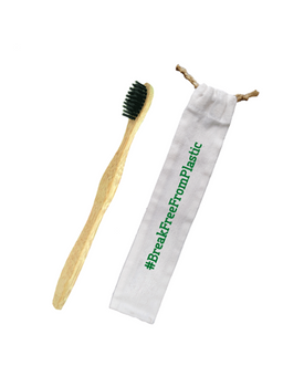 Bamboo Toothbrush + Canvass Pouch