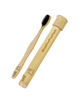 Bamboo Toothbrush + Bamboo Toothbrush Case