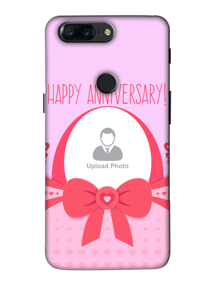 3D Happy Anniversary Elegent Personalized Mobile Back Cover for Oneplus-OnePlus-5T-Ann0033