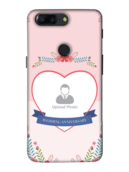 3D Happy Wedding Anniversary Personalized Mobile Back Cover For Oneplus-OnePlus-5T-Ann0044