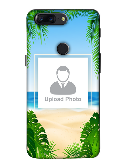 3D Beach View Customised Mobile Back Cover for Oneplus-OnePlus-5T-Cus0027