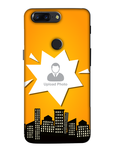 3D Buildings View Customised Mobile Back Cover for Oneplus-OnePlus-5T-Cus00712
