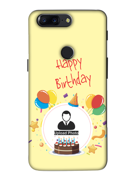 3D Birthday Party Celebrations Customised Back Cover for Oneplus-OnePlus-5T-Hbd00522