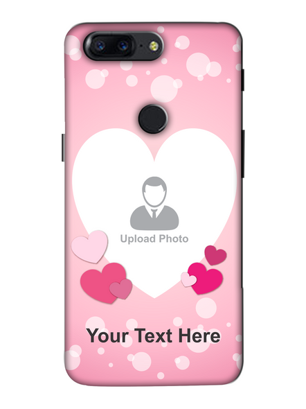 3D Light Hearts backgroun Personaised Mobile Back Cover for Oneplus-OnePlus-5T-lOVE00431