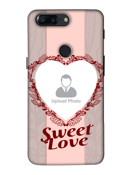 3D Elegent Heart Personalized Mobile Back Cover for Oneplus-OnePlus-5T-lOVE00532