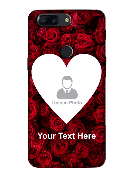 3D Beautiful Roses background Personalized Mobile Back Cover forOneplus-OnePlus-5T-lOVE00633