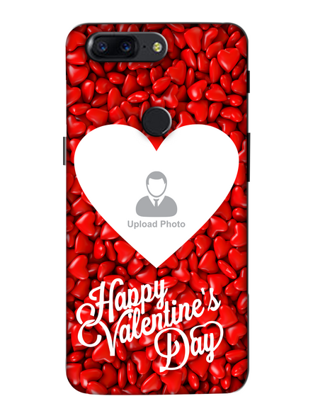 3D Heart Candies Valentines Mobile Back Cover for Oneplus-OnePlus-5T-Val00437
