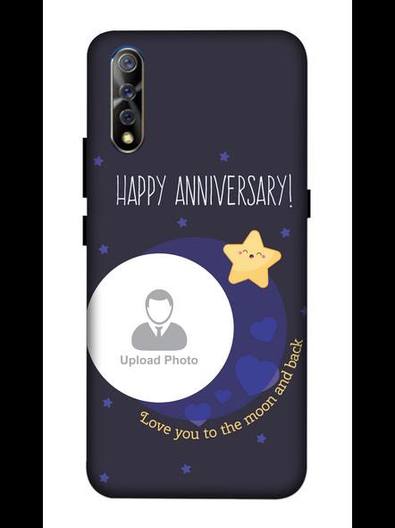 3D Happy Anniversary Blue Theme Personalized Mobile Back Cover for Vivo-VIVO-S1-Ann00240