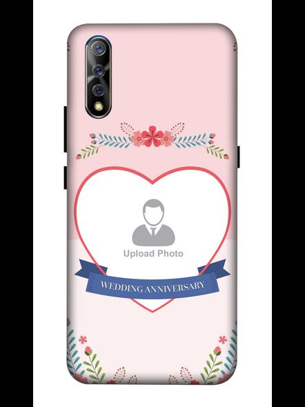3D Happy Wedding Anniversary Personalized Mobile Back Cover For Vivo-VIVO-S1-Ann00442