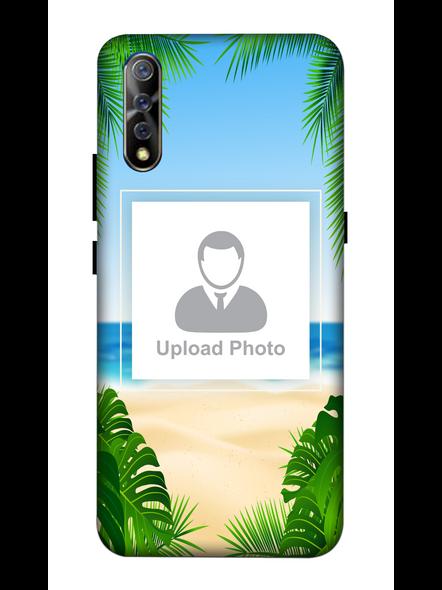 3D Beach View Customised Mobile Back Cover for Vivo-VIVO-S1-Cus00245