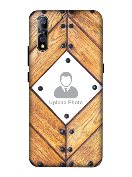 3D Beautiful Wooden Theme Personalized Mobile Back Cover for Vivo-VIVO-S1-Cus00346