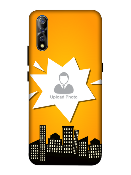 3D Buildings View Customised Mobile Back Cover for Vivo-VIVO-S1-Cus00750