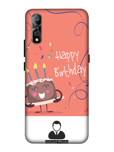 3D happy Birthday Cake Personalized Back Cover for Vivo-VIVO-S1-HBD000156