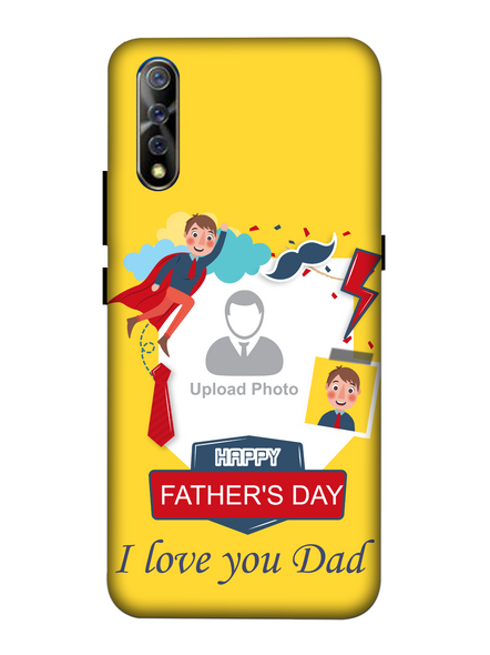 3D Super Father's Day Party Background Mobile Back Cover for Vivo-VIVO-S1-Fday00363