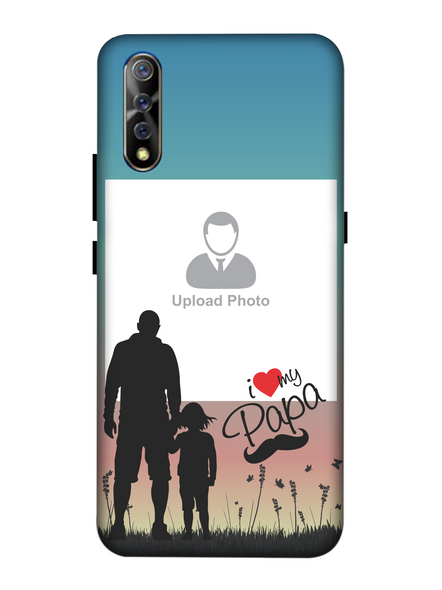 3D Father and Son Love Beautiful Mobile Back Cover for Vivo-VIVO-S1-Fday00464