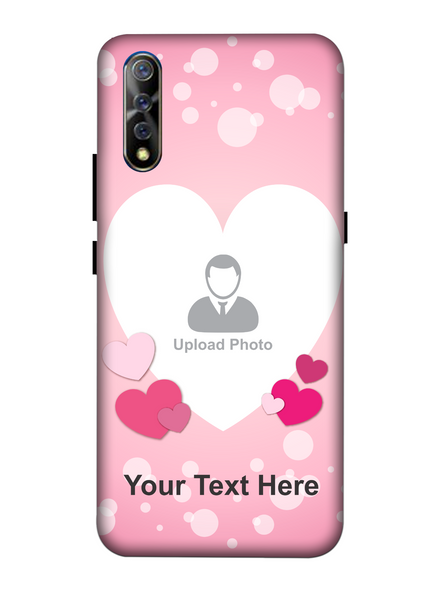 3D Light Hearts backgroun Personaised Mobile Back Cover for Vivo-VIVO-S1-love00469