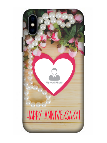 3D Happy Anniversary Personalized Mobile Back Cover for Apple iPhone-Apple-iPhone-X-0177