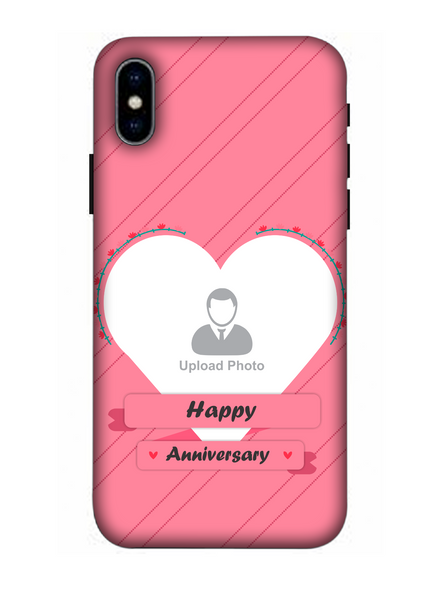 3D Happy Anniversary Heart Theme Personalized Mobile Back Cover for Apple iPhone-Apple-iPhone-X-0581