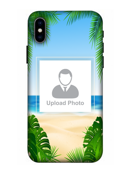 3D Beach View Customised Mobile Back Cover for Apple iPhone-Apple-iPhone-X-0283