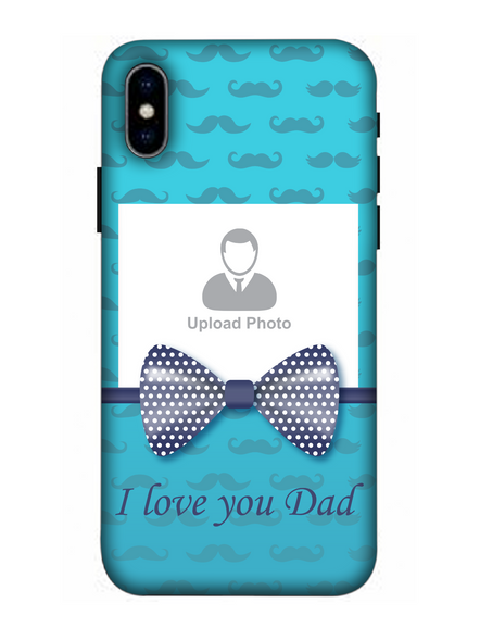 3D Beautiful Bow Mustache Background Mobile Back Cover for Apple iPhone-Apple-iPhone-X-02100