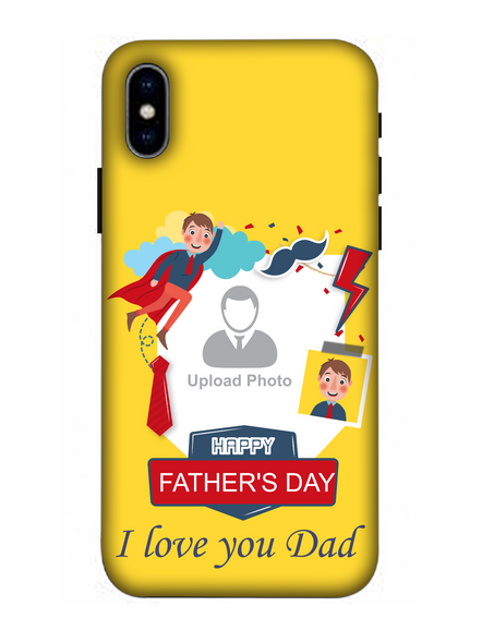 3D Super Father's Day Party Background Mobile Back Cover for Apple iPhone-Apple-iPhone-X-03101