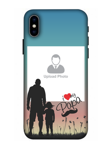 3D Father and Son Love Beautiful Mobile Back Cover for Apple iPhone-Apple-iPhone-X-04102
