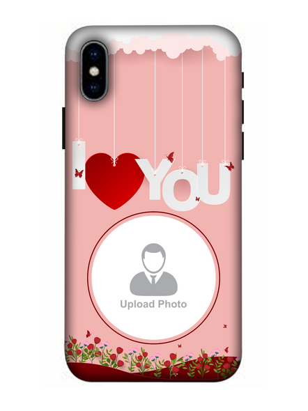 3D Hanging I Love You Flowers Customised Mobile Back Cover for Apple iPhone-Apple-iPhone-X-02105