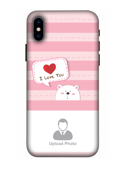 3D Cute Puppy Saying I Love You Personalized Mobile Back Cover for Apple iPhone-Apple-iPhone-X-03106