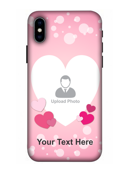 3D Light Hearts backgroun Personaised Mobile Back Cover for Apple iPhone-Apple-iPhone-X-04107