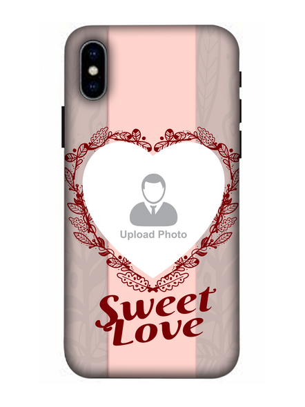 3D Elegent Heart Personalized Mobile Back Cover for Apple iPhone-Apple-iPhone-X-05108