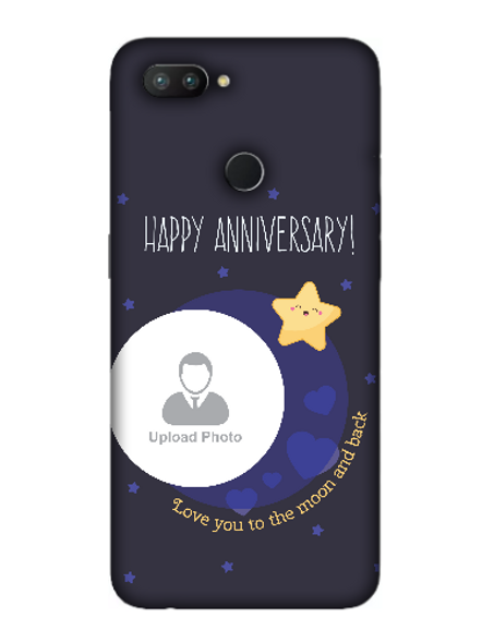 3D Happy Anniversary Blue Theme Personalized Mobile Back Cover for OPPO-REALME-2-Pro--02116
