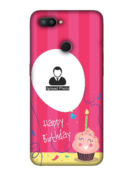3D Happy Birthday Cup Cake Candle Customised Back Cover for OPPO-REALME-2-Pro--04135