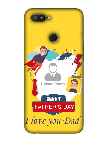 3D Super Father's Day Party Background Mobile Back Cover for OPPO-REALME-2-Pro--03139