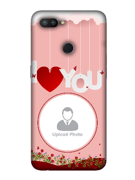 3D Hanging I Love You Flowers Customised Mobile Back Cover for OPPO-REALME-2-Pro--02143