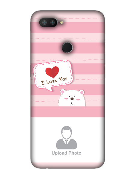 3D Cute Puppy Saying I Love You Personalized Mobile Back Cover for OPPO-REALME-2-Pro--03144